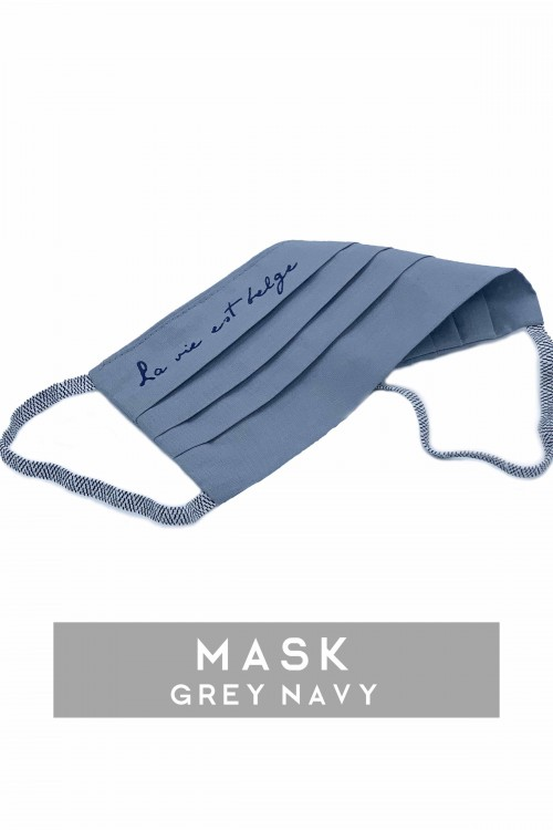 Grey/Navy Mask