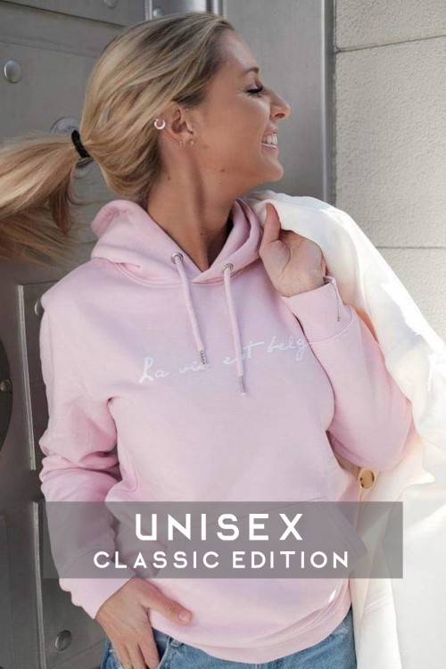 Hoodie sweatshirt unisex pink