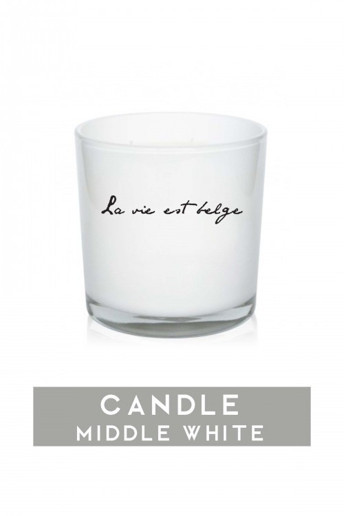 Middle white candle 920 gr
