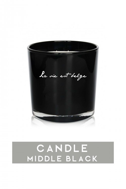 Middle black candle 920 gr