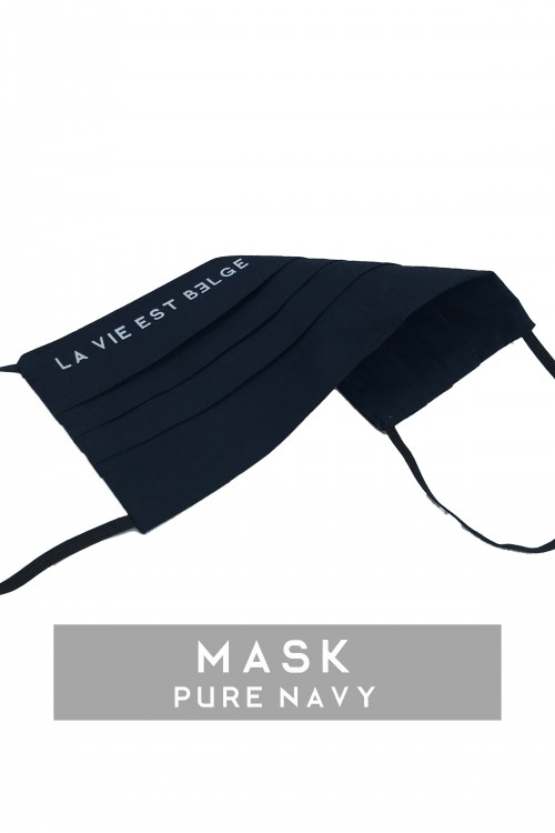 Pure navy blue / white mask