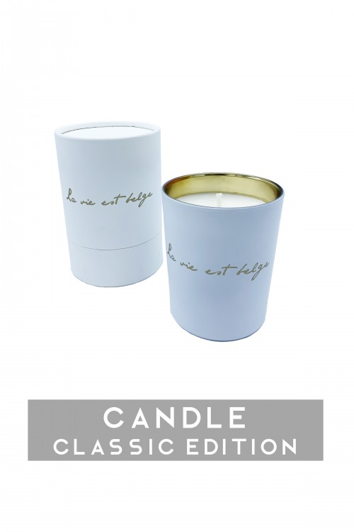 White/Gold candle