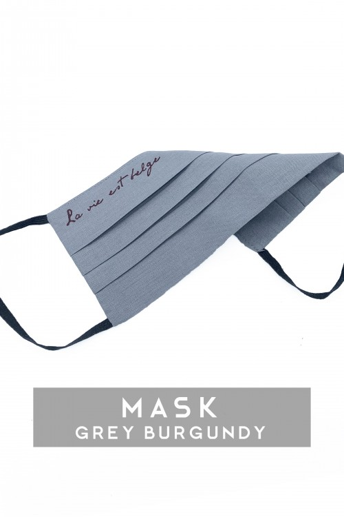 Grey / Burgundy Mask