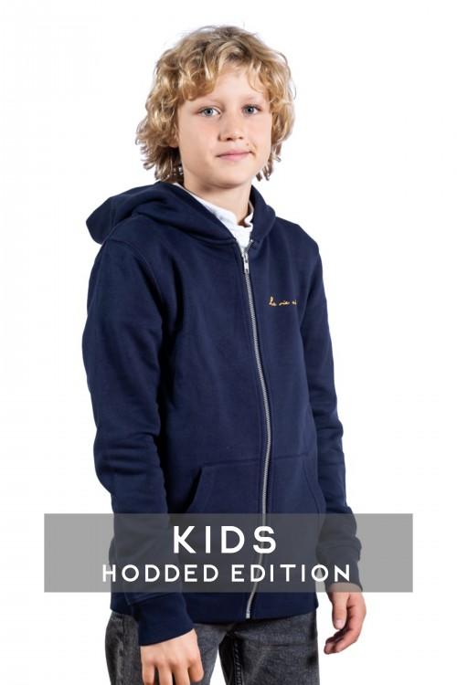 Classic zip navy hooded...