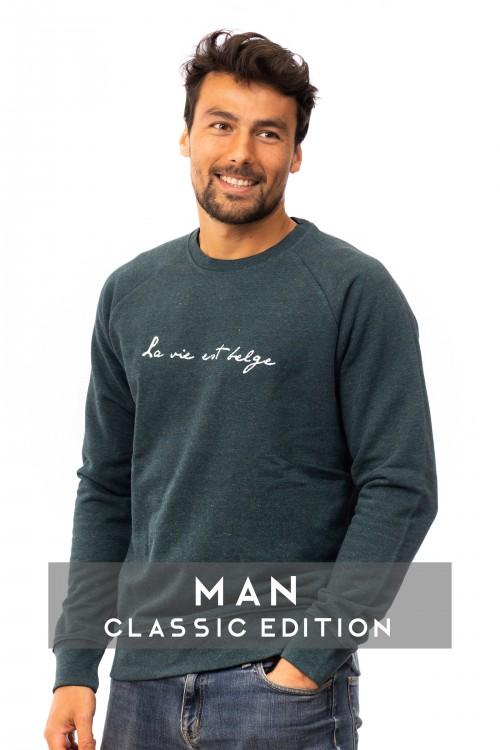 Classic sweatshirt forest  M