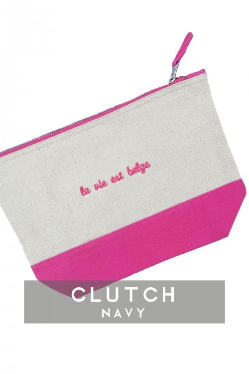 Vintage pink clutche