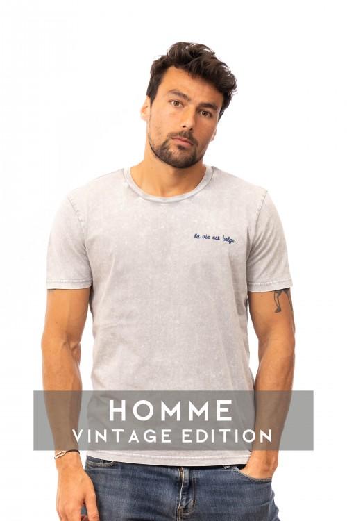 Vintage dyed grey T-shirt M