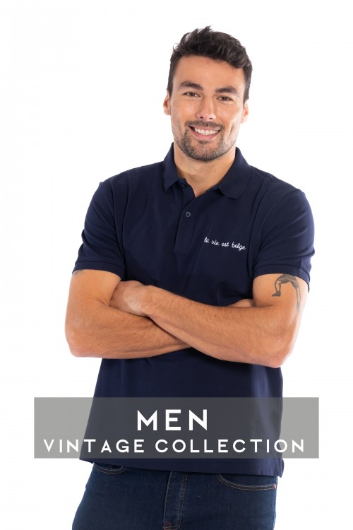 Classic navy polo M