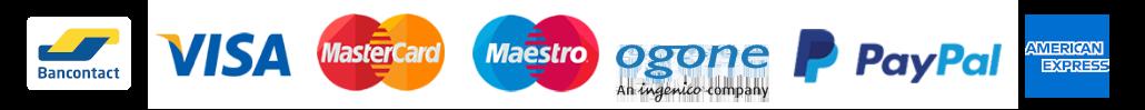 Visa, Mastercard, Maestro, Hipay, Paypal